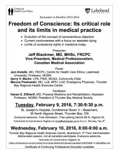 Poster February 9 & 10, 2016 - Freedom of Conscience