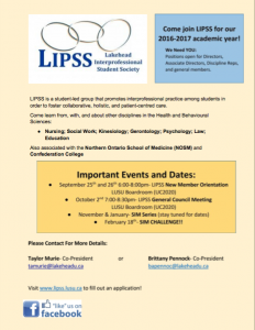 LIPSS New Member Orientation Recruitment